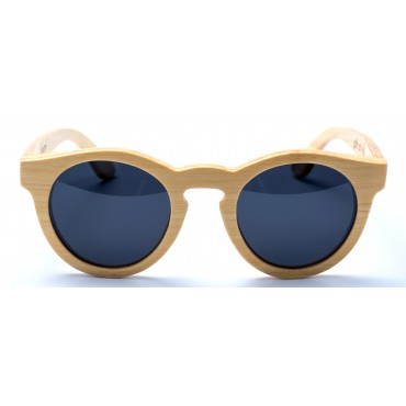 Hepburn - Natural Bamboo Sunglasses