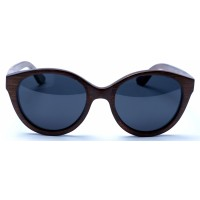 Joyce - Brown Bamboo Sunglasses