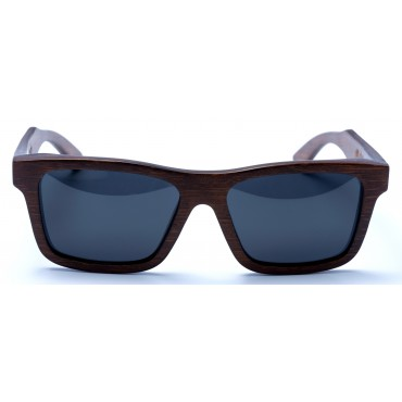 Kennedy - Brown Bamboo Sunglasses