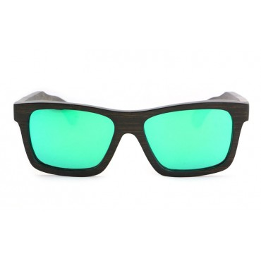 Kennedy – Brown (Green Revo) Bamboo Sunglasses