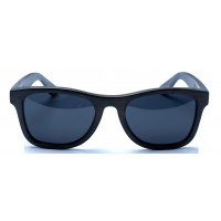Monroe - Black Bamboo Sunglasses