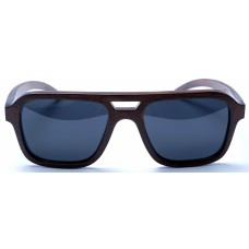 Nelson - Brown Bamboo Sunglasses