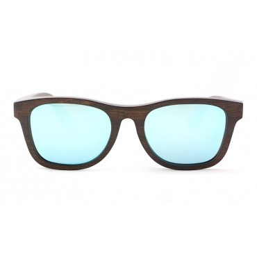 Monroe – Brown (Silver Revo) Bamboo Sunglasses